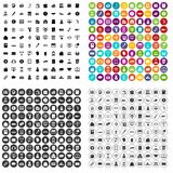 100 contribution icons set vector variant. 100 contribution icons set vector in 4 variant for any web design isolated on white Stock Images