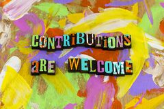 Contribution welcome give donate charity help kindness thank you stock photo