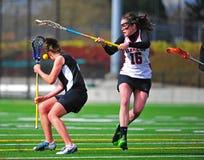 Contrôle de filles de Lacrosse Image libre de droits