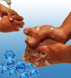 Contro H1N1 Immagini Stock