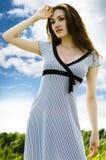 Contro il cielo blu Fotografie Stock