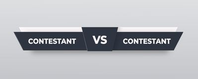 CONTRO il logo Contro il bordo dei rivali, con spazio per testo Illustrazione di vettore Grigio contro l'insegna calcio, pallacan illustrazione vettoriale
