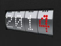 Contro isometry del nuovo anno 2014 Fotografia Stock