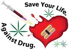 Contro la droga Immagini Stock Libere da Diritti