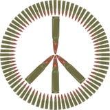 Contro la guerra - simbolo di pace Immagini Stock