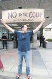 contro la protesta dell'Honduras di colpo Fotografia Stock Libera da Diritti
