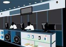 Contro lavoratori Immagine Stock