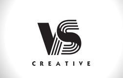 CONTRO progettazione di Logo Letter With Black Lines Linea vettore Illus della lettera Fotografia Stock Libera da Diritti