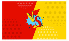 Contro progettazione di stile dei fumetti degli ambiti di provenienza di lotta delle lettere Immagini Stock