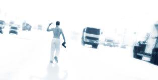 Contro traffico di automobile Fotografie Stock Libere da Diritti