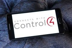 Control4 λογότυπο επιχείρησης τεχνολογίας Στοκ φωτογραφίες με δικαίωμα ελεύθερης χρήσης