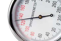 Control 130 de la presión arterial Imagen de archivo libre de regalías
