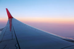 Control aircraft wing Royalty Free Stock Photo