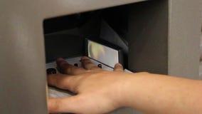 Control biométrico del regognition almacen de metraje de vídeo