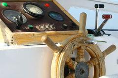 Control board of the boat. Control board of the old boat Royalty Free Stock Images