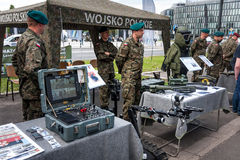 Control board of Robot TALON. WARSAW, POLAND - MAY 08, 2015: Robot TALON reconnaissance / combat vehicle, control board. 70th anniversary of End of WW II Royalty Free Stock Photos