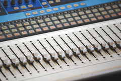 Control Board of Sound Mixer Royalty Free Stock Photography