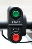 Control buttons. Red and green start stop control buttons Royalty Free Stock Photo
