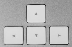 Control buttons - forward, backward, right, left. Close-up Royalty Free Stock Images