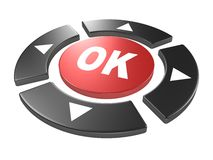 Control buttons with four main directions and ok Royalty Free Stock Photo