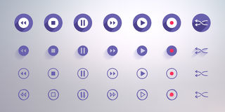 Control buttons set for user interface Royalty Free Stock Image