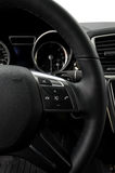 Control buttons on steering wheel. Royalty Free Stock Photography