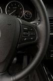 Control buttons on steering wheel. Stock Image