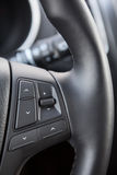 Control buttons on steering wheel of vehicle Royalty Free Stock Images