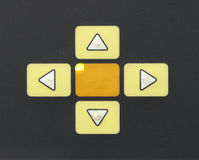 Control buttons - up, down, right, left Royalty Free Stock Images