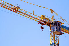 Control Cabin Arm And Pulleys On High Lift Crane Royalty Free Stock Photo