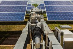 Control Cabinet of Solar Tracking System in Thailand. Royalty Free Stock Photo
