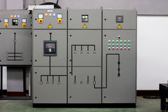 The Control cabinets - All industrial and  manufacturers.  Stock Image