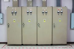 The Control cabinets - All industrial and  manufacturers.  Royalty Free Stock Image