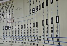 Control center. Of a disused factory Stock Photo