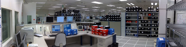 Control center of the factory. Panoramic view of the Control center of the factory Stock Images