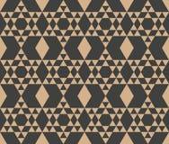 Control cruzado del marco del modelo del damasco del vector del fondo del polígono del triángulo retro inconsútil de la geometría libre illustration