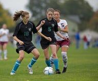 Control de balón de fútbol del HS Foto de archivo libre de regalías