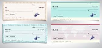 CONTROL de BANCO, cheque del banco - Vector eps10 foto de archivo