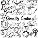Control de calidad en la producción y el operati de la industria fabril ilustración del vector