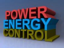 Control de energía del poder Fotos de archivo libres de regalías
