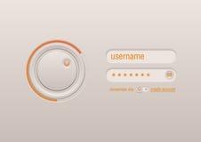 Control de interfaz para la pantalla táctil Imagen de archivo libre de regalías