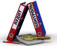 Control de la auditoría Concepto Imágenes de archivo libres de regalías