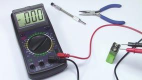 Control de la batería almacen de metraje de vídeo