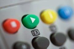 Control de la TV Foto de archivo libre de regalías