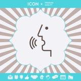 Control de la voz, persona que habla - icono Elementos gr?ficos para su dise?o stock de ilustración