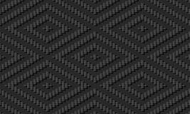 control de papel oscuro Diamond Frame Line del cuadrado de la cruz de la puntada del arte 3D ilustración del vector