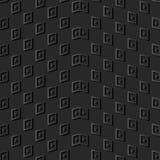 control de papel oscuro Dot Wave Frame de la geometría del arte 3D stock de ilustración