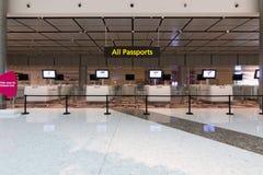 Control de pasaportes de la inmigración Imagenes de archivo