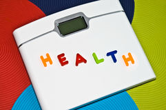 Control de peso/concepto sanos de la dieta Fotos de archivo