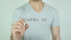 Control de porciones, Portion Control writing in Spanish on Glass stock video